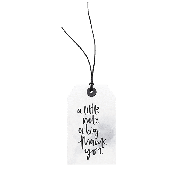 A Little Note, a Big Thank You // Gift Tag The Wholesome Gift Box