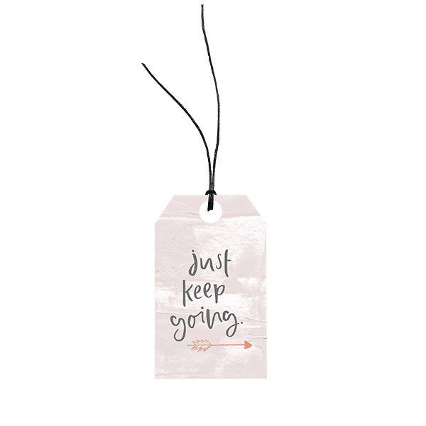 Just Keep Going // Gift Tag The Wholesome Gift Box