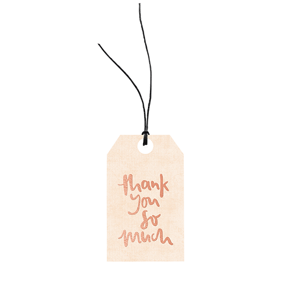 Thank You So Much // Gift Tag The Wholesome Gift Box