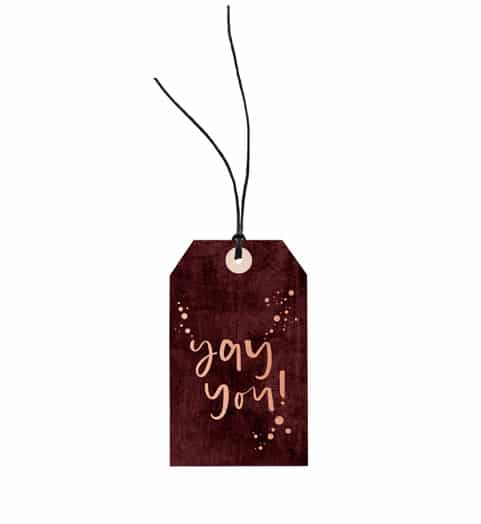 Yay You // Gift Tag The Wholesome Gift Box