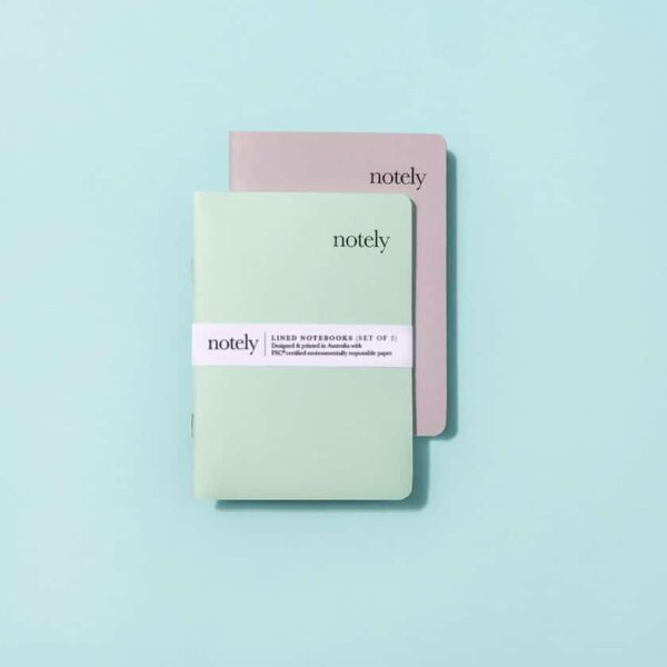 Notely, Spearmint & Grey Pocket Notebook The Wholesome Gift Box